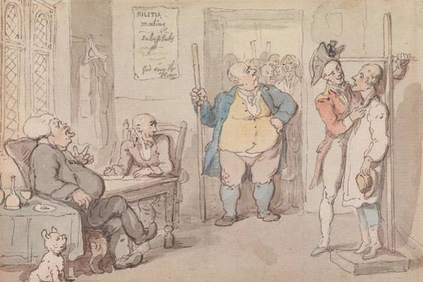 Drawing - The Recruiting Officer by Thomas Rowlandson