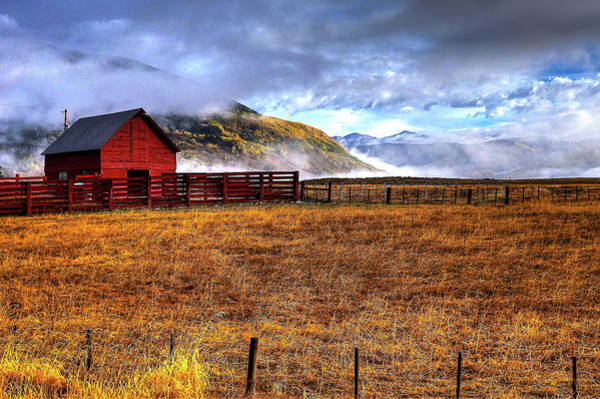 Wall Art - Photograph - The Red Barn by David Ross