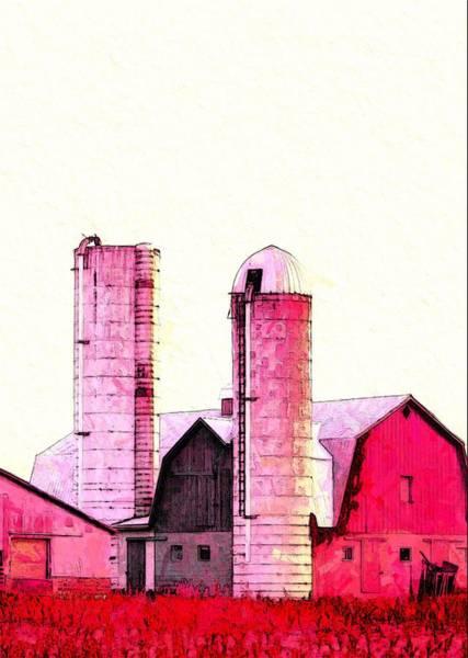 Wall Art - Digital Art - The Red Barn by Steve K