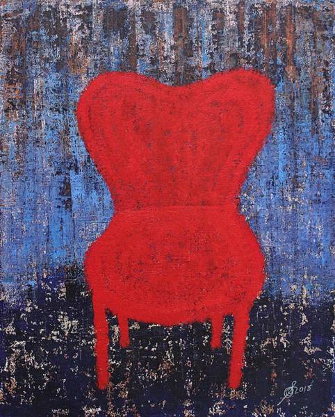 Painting - The Red Chair Original Painting by Sol Luckman