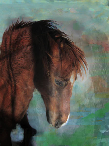 Mixed Media - The Red Fury Portrait by Patricia Keller