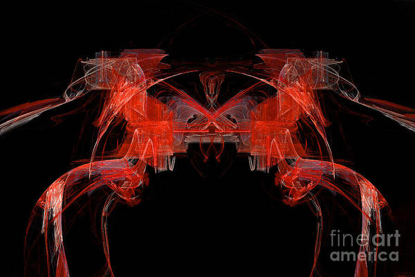 Digital Art - The Red Horses Abstract  by Marina Usmanskaya
