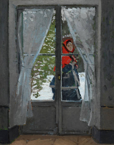 Wall Art - Painting - The Red Kerchief, 1873 by Claude Monet