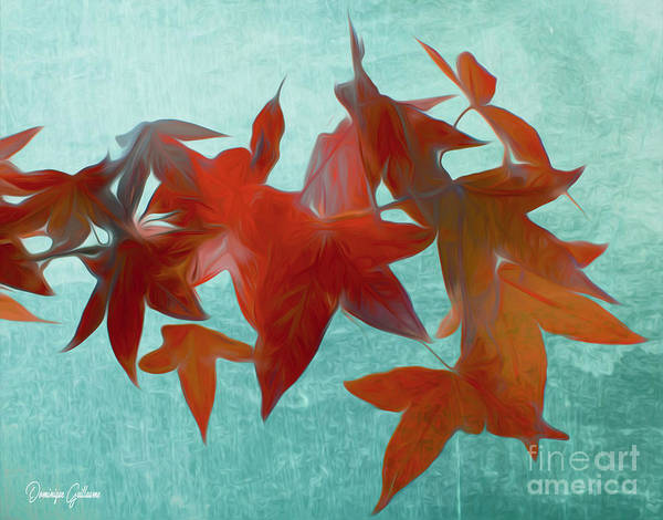 Photograph - The Red Leaves by Dominique Guillaume