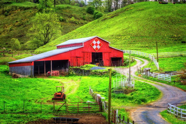 Wall Art - Photograph - The Red Quilt Barn by Debra and Dave Vanderlaan