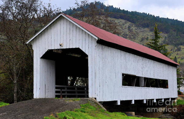 Digital Art - The Red Roof Covered Bridge by Kirt Tisdale