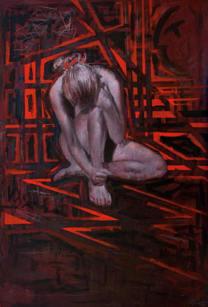 Wall Art - Painting - The Red Room by Hans Egil Saele