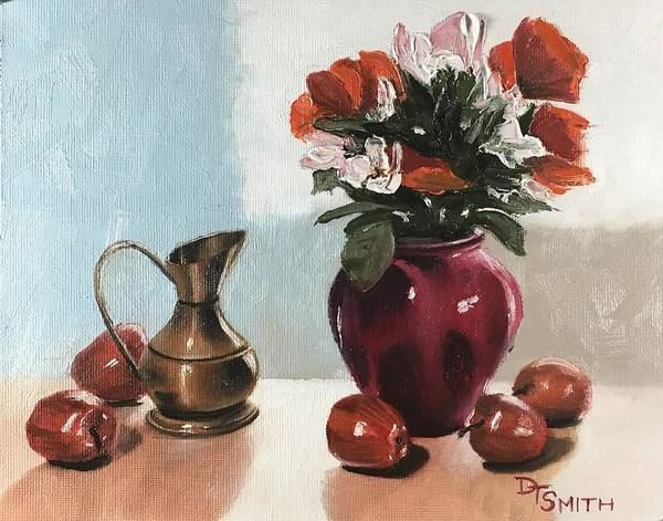 Wall Art - Painting - The Red Vase by Daniel Smith