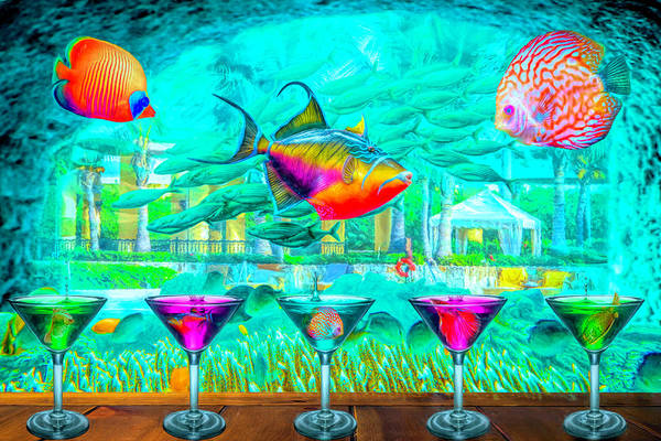 Digital Art - The Reef Martini Bar by Debra and Dave Vanderlaan