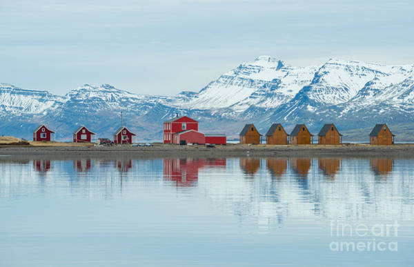 Fjord Photograph - The Reflection Of The Small Cottage In by Boyloso