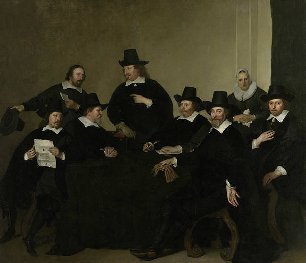 Painting - The Regents Of The Nieuwe Zijds Huiszittenhuis In Amsterdam by Jacob Adriaensz Backer