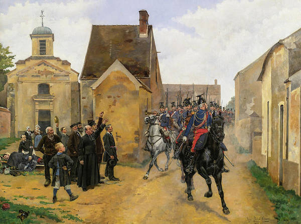 Wall Art - Painting - The Regiment's Triumphal Return by Pierre Petit-Gerard