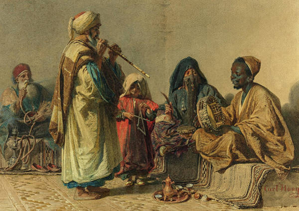 Wall Art - Painting - The Rehearsal, Cairo, 19th Century by Carl Haag