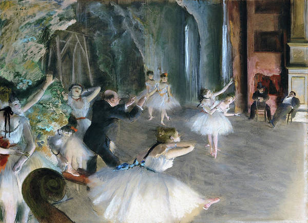 Wall Art - Painting - The Rehearsal Onstage - Digital Remastered Edition by Edgar Degas