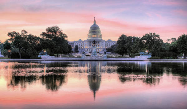 Us Capitol Photograph - The Republic Awakens by JC Findley