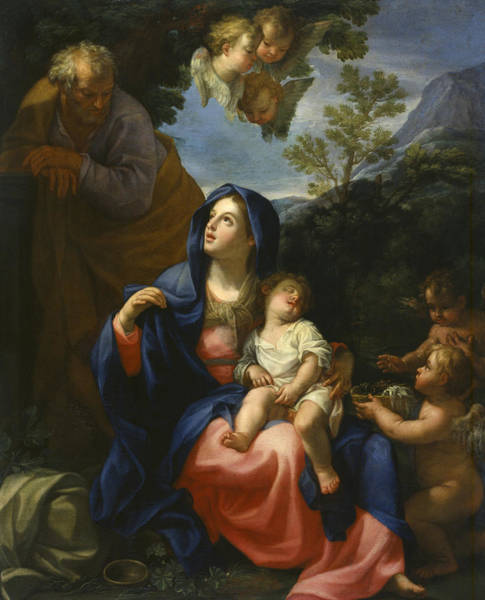 Painting - The Rest On The Flight Into Egypt by Giovanni Odazzi
