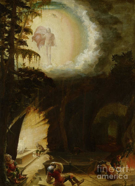 Sixteenth Wall Art - Painting - The Resurrection, 1527  by Albrecht Altdorfer