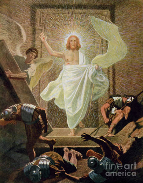 Wall Art - Painting - The Resurrection Of Christ By Gebhard Fugel by Gebhard Fugel