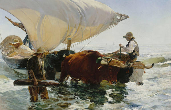 Wall Art - Painting - The Return From Fishing, 1894 by Joaquin Sorolla y Bastida