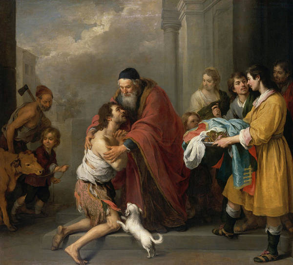 Wall Art - Painting - The Return Of The Prodigal Son, 1670 by Bartolome Esteban Murillo