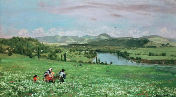 Wall Art - Painting - The Rhine At Sackingen by Hans Thoma