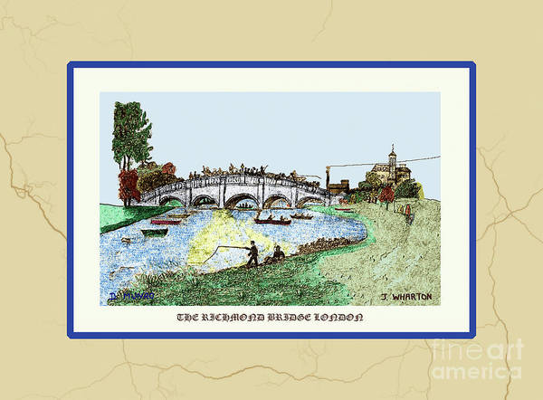 Painting - The Richmond Bridge V2 by Donna L Munro