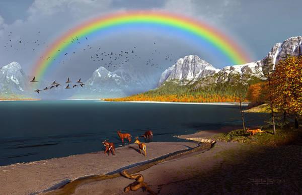 Digital Art - The Rings Of Eden by Dieter Carlton