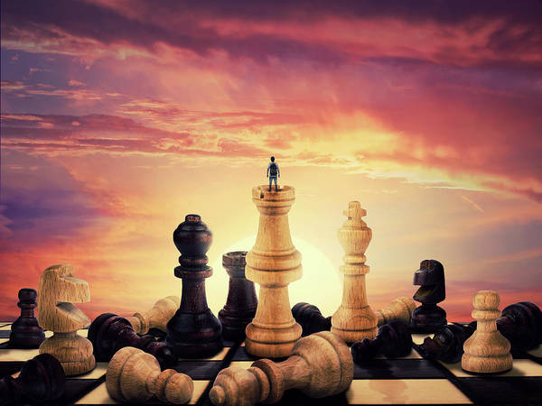 Wall Art - Digital Art - The Rise Of A Chess Player by Psycho Shadow