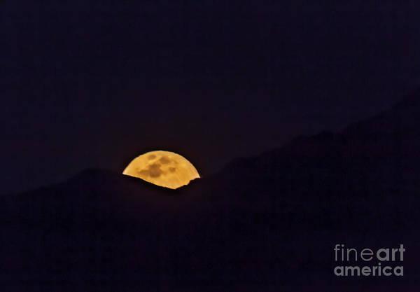 Wall Art - Photograph - The Rising Full Moon  by Robert Bales