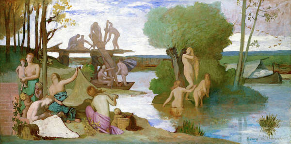 Wall Art - Painting - The River - Digital Remastered Edition by Pierre Puvis de Chavannes