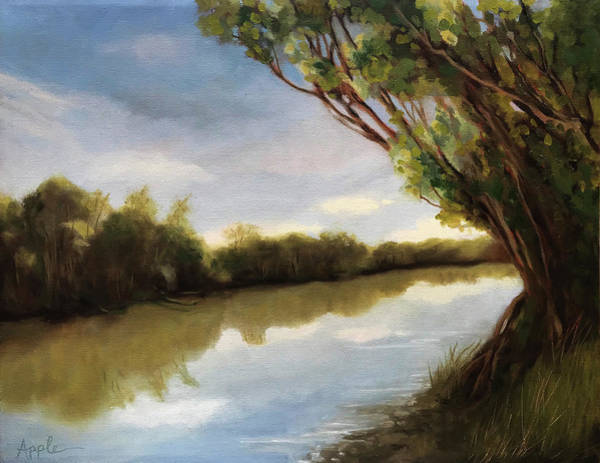 Wall Art - Painting - The River by Linda Apple