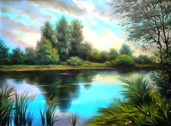 Digital Art - The River Runs by Catherine Lott