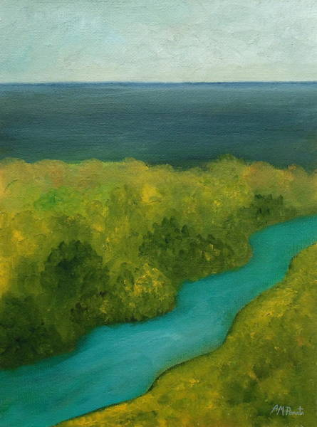 Painting - The River We'd Ride by Angeles M Pomata