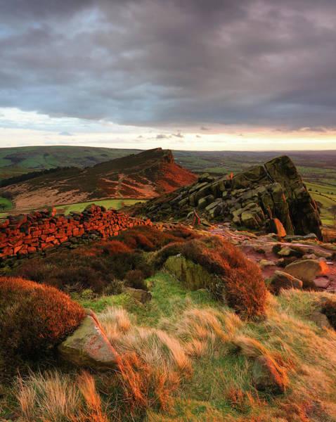 Peak District National Park Photograph - The Roaches Sunset, Peak District by Chris Hepburn