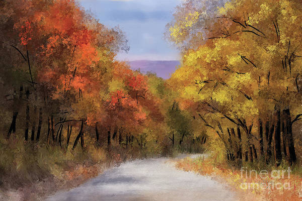 Digital Art - The Road To Blue Knob by Lois Bryan