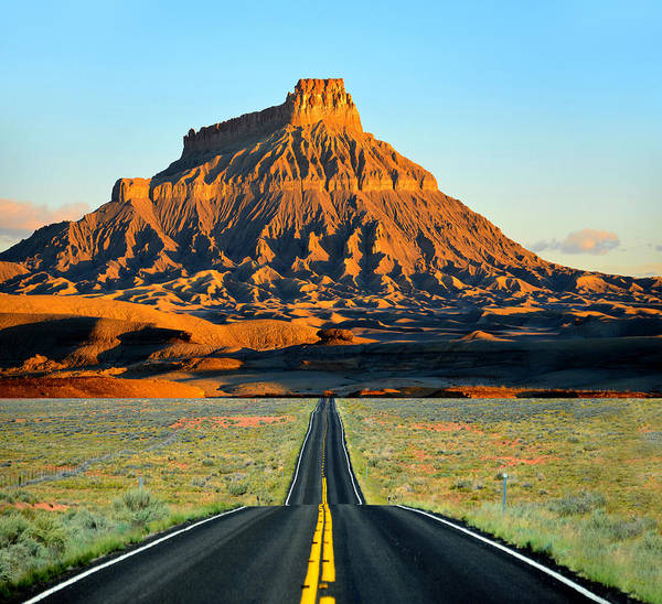 Wall Art - Photograph - The Road To Factory Butte by David Lee Thompson
