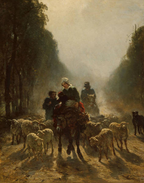 Painting - The Road To Market by Constant Troyon