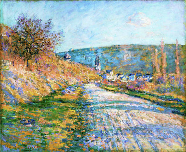 Vetheuil Wall Art - Painting - The Road To Vetheuil - Digital Remastered Edition by Claude Monet