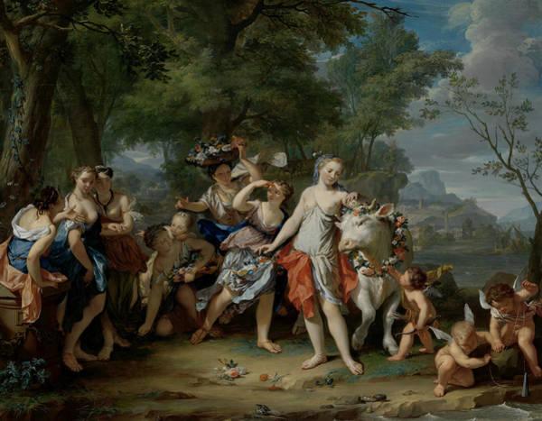 Painting - The Robbery Of Europe by Nikolaas Verkolje