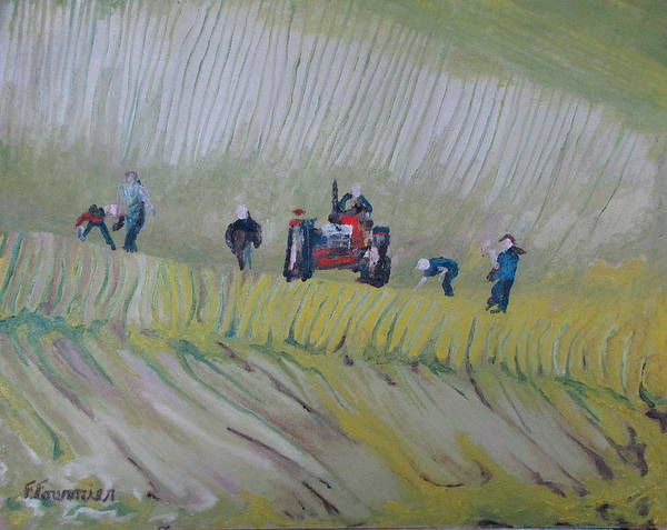 Wall Art - Painting - The Rock Pickers No.2 by Francois Fournier