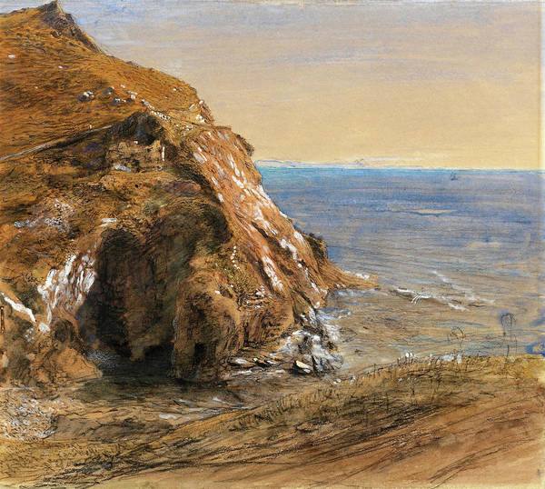 Wall Art - Painting - The Rock Slip Near Boscastle - Digital Remastered Edition by Samuel Palmer