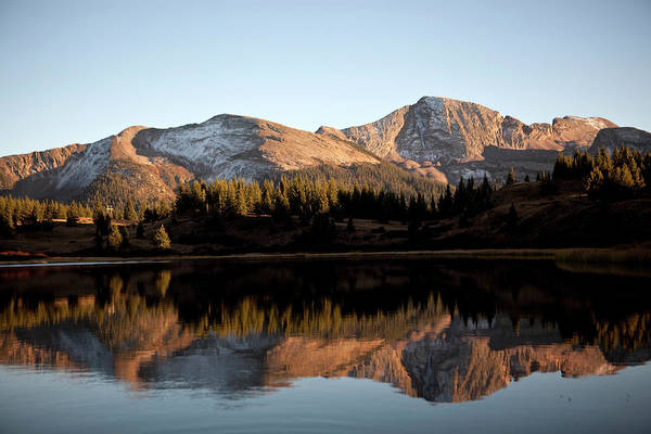 Silverton Photograph - The Rocky Mountains Are Reflected In by Chris Bennett