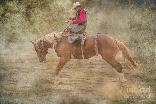 Bucking Bronco Digital Art - The Rodeo Bronco Busting by Randy Steele