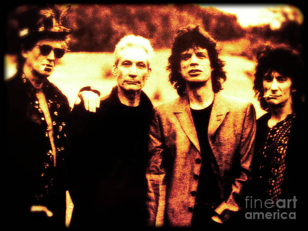 Photograph - The Rolling Stones by Doc Braham