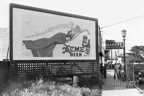 Photograph - The Roma Market Direct Imported Italian Food May 1940 by California Views Archives Mr Pat Hathaway Archives
