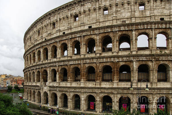 Photograph - The Roman Colosseum Exterior 1   by Wayne Moran