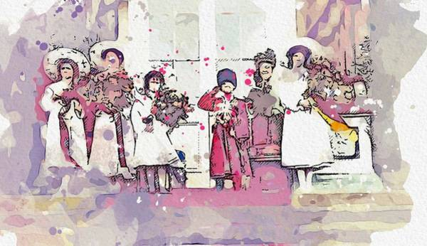 Wall Art - Painting - The Romanov Children Watercolor By Ahmet Asar by Celestial Images