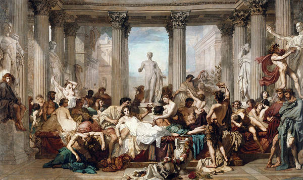 The Romans In Their Decadence Art Print