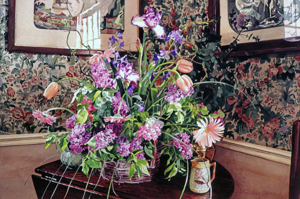 Ceramics Wall Art - Painting - The Romantic Arrangement by David Lloyd Glover