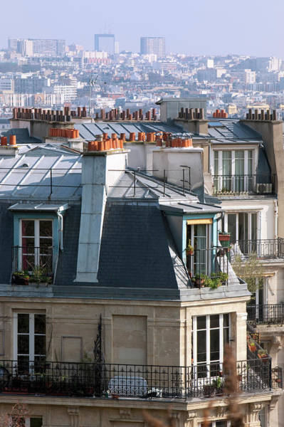 Paris Rooftop Photograph - The Rooftops Of Paris by Martin Child